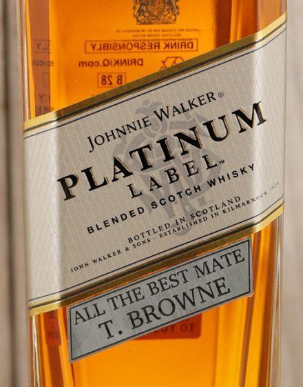 Personalised Johnnie Walker Platinum