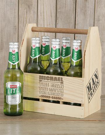 Personalised Legend Castle Beer Caddy