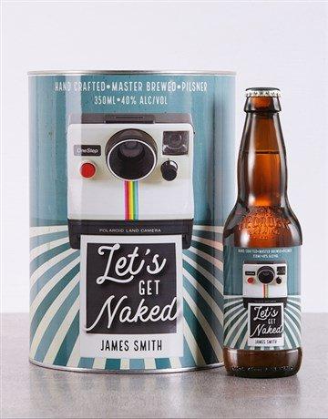 Personalised Lets Get Naked Craft Beer