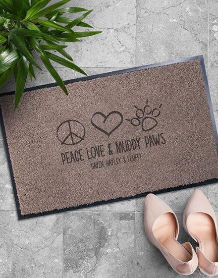 Personalised Muddy Paws Doormat