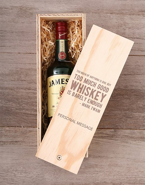 Personalised Whiskey Quote Crate